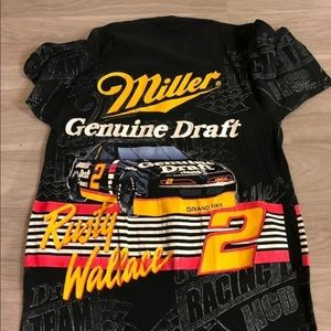 All over print Rusty Wallace tee